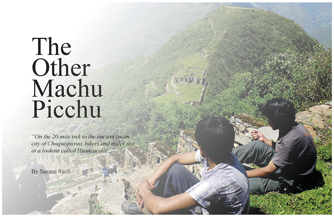 The Other Machu Picchu Spread Page 1